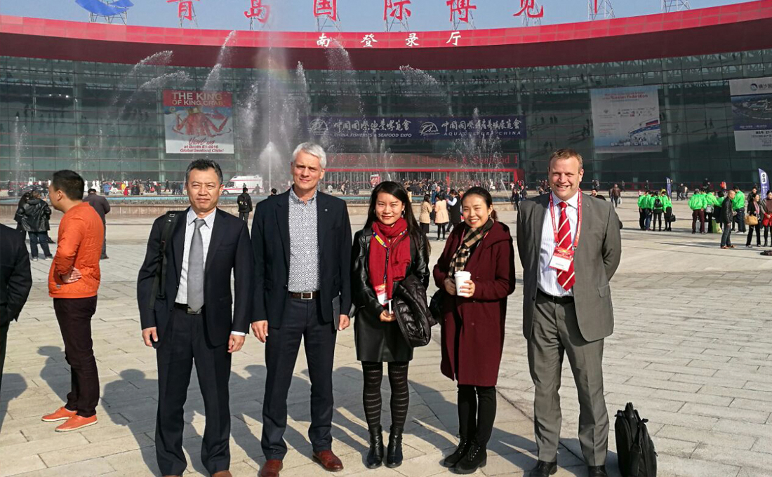 Equipo de Inlet en la feria de Qingdao 2016