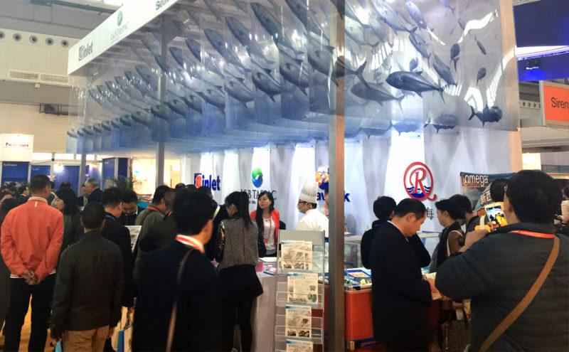 Stand de Inlet en la Feria de Qingdao